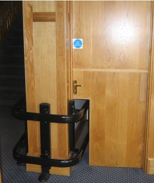 The winning fire door in the Dodgy Fire Door of the Year Awards 2014
