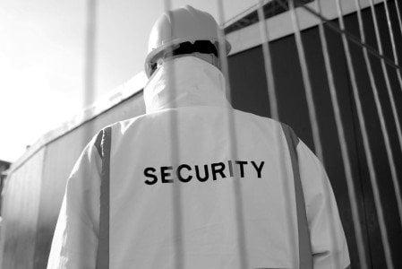 security guard hard hat