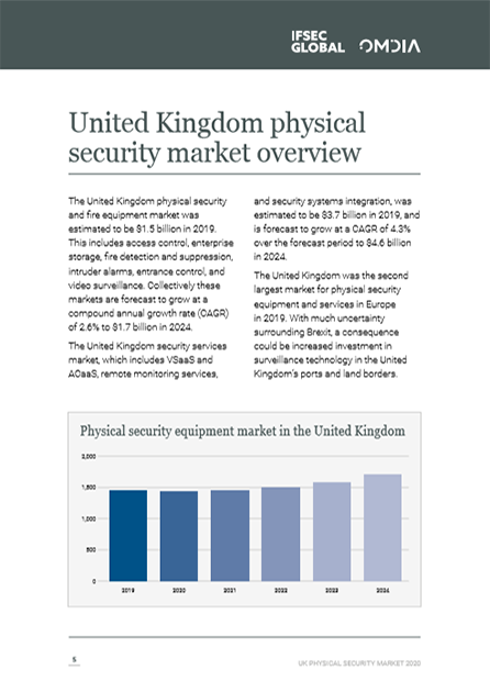 Page 5 of of the United Kingdom Physical Security report by IFSEC Global and Omdia